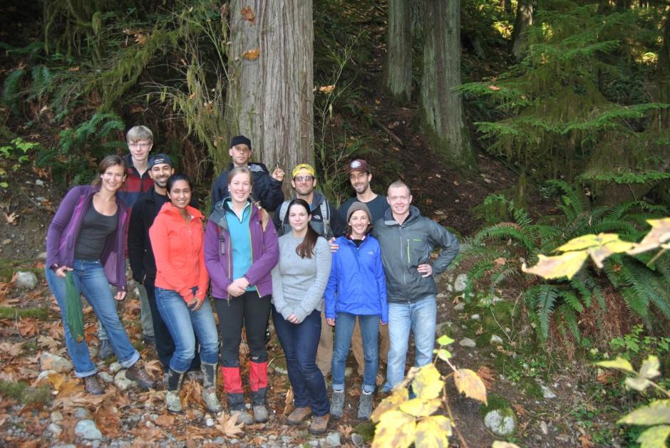SAL Lab and company mushroom hunting fall 2013